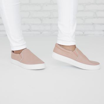 Pretty In Pink Slip On Sneaker Shoes