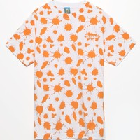 Teenage Splat T-Shirt - Mens Tee - Orange/White