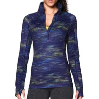 Under Armour Women's ColdGear Printed Half Zip Long Sleeve Shirt