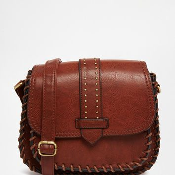 New Look Vintage Whipstitch Saddle Bag