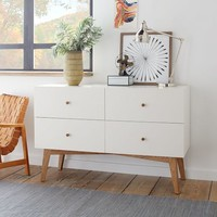 Tall Storage 4-Drawer Dresser - White