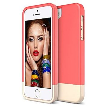 iPhone 5S Case, Maxboost [Vibrance Series] For Apple iPhone 5S / 5 Case [Lifetime Warranty] Protective SOFT-Interior Slider Style Hard Cases Cover - Italian Rose/Champagne Gold