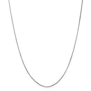 14K White Gold 1.00mm Octagonal Snake Chain Necklace - Fine Jewelry Gift