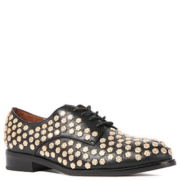 The Daltrey Flower Shoe in Black and Gold