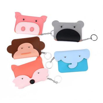 Bentoy Fashion Animal Money Fox Pig Elephant Mini Wallet Leather Clutch Coin Purse Money Bag Pouch