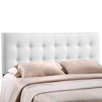 Emily Full Vinyl Headboard in White