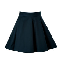 Valentino R.E.D. - Stretch Cotton Flared Skirt in Navy