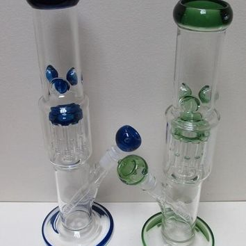 """14"""" 8 Arm Colored Base Water Pipe"""