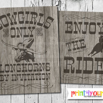 Printable Cowgirl Sign // Instant Download 8x10 Printable Cowgirl Rhodeo Signs // Western Signs // Cowgirl Sign // Rhodeo Sign //