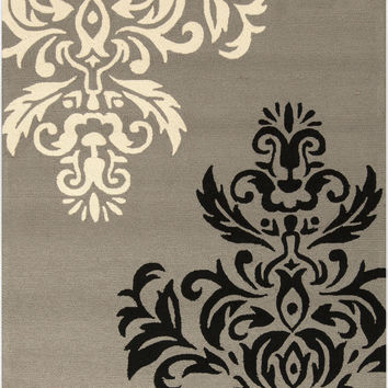Surya Rain Area Rug Gray, Black