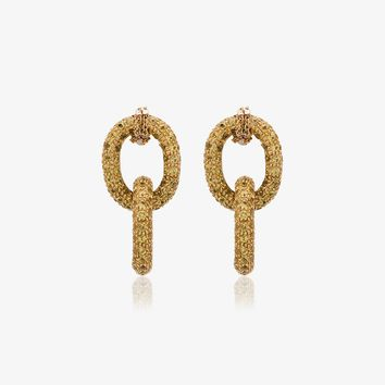 18k yellow gold chain earrings