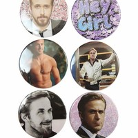 The Pulp Girls — RYAN GOSLING BUTTONS