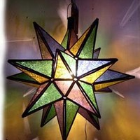 Moravian star - star lamps at justmorocco.com