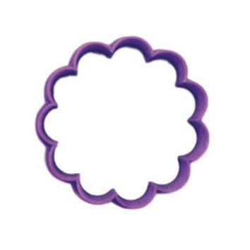scalloped Round Cookie Cutter - Pick your own size