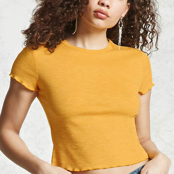 Lettuce Trim Ribbed Tee