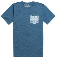 Hurley Arrowhead Pocket T-Shirt - Mens Tee - Blue