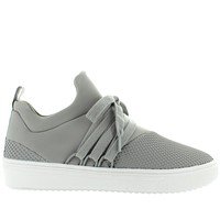 Steve Madden Lancer - Grey Textured Nylon Pull-On Sneaker