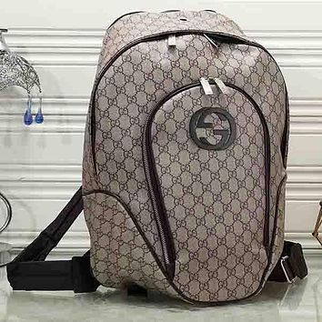 GUCCI Woman Men Fashion Backpack Rucksack Bookbag