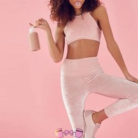 Pink Leggings Outfit Athletic Wear Workout Pants