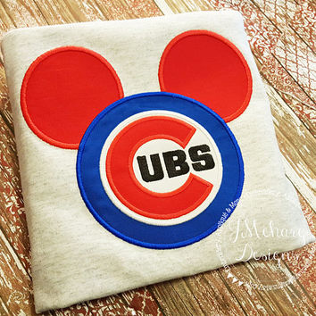 Custom Cubs embroidered Mouse Vacation Shirt for the Family! 879 boy2