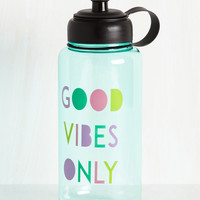 Hydrated and Mighty Water Bottle in Positivity | Mod Retro Vintage Keychains | ModCloth.com