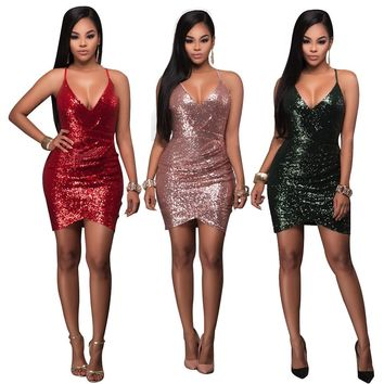 Glitter Embellished Bodycon Party Dress