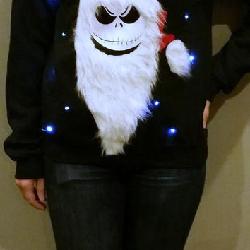 Light Up Ugly Christmas Sweater - Jack Skellington - Nightmare Before Christmas