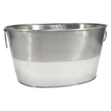 Threshold™ Hammered Metal Oval Beverage Tub : Target