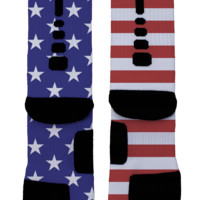 USA Flag Custom Nike Elites
