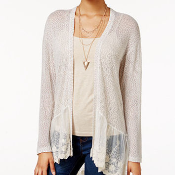 American Rag Lace-Trim Open-Knit Cardigan, Only at Macy's   macys.com