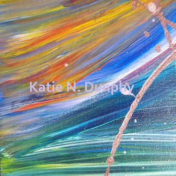 "Abstract Painting Print 8""x10"" by Katie N. Dunphy"
