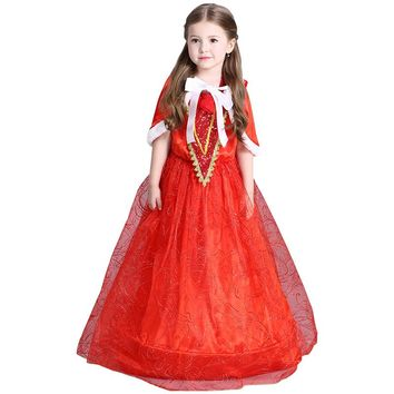 new arrival baby girl dress Little Red Riding Hood cosplay princess party dress halloween costume children clothing bosudhsou