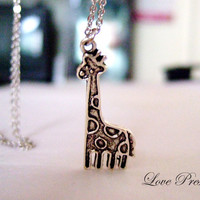 Valentine's day gift  Cutie Giraffe Necklace for by LoLoJewelryBox