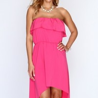Fuchsia High Low Hem Dress @ Amiclubwear sexy dresses,sexy dress,prom dress,summer dress,spring dress,prom gowns,teens dresses,sexy party wear,women's cocktail dresses,ball dresses,sun dresses,trendy dresses,sweater dresses,teen clothing,evening cocktail
