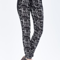 2 Tone Abstract Printed Slouchy Pant