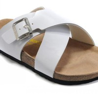 Birkenstock Guam Sandals Leather White - Ready Stock