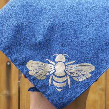 Bee and Seed Festival Selection of Four Scarves Wrap Bandana Head Kerchief