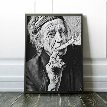 Rolling Stones Poster Keith Richards Art Painting