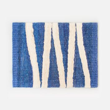Bonita Door Mat - Blue & Nude
