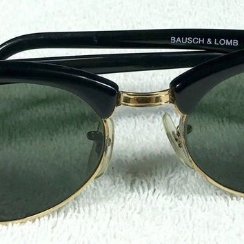 RAY BAN B&L Bausch & Lomb Vintage Sunglasses W1263 Clubmaster RAYBAN Original