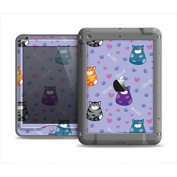 The Light Purple Fat Cats Apple iPad Air LifeProof Nuud Case Skin Set