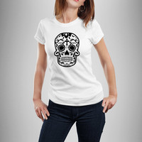 Sugar Skull Shirt, Dia De Los Muertos Shirt, Day of The Dead Shirt, T-Shirt For Her