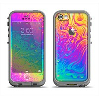 The Neon Color Fushion V2 Apple iPhone 5c LifeProof Fre Case Skin Set