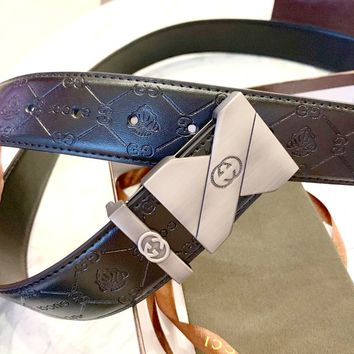 GUCCI 2019 new men's high-end wild smooth buckle belt