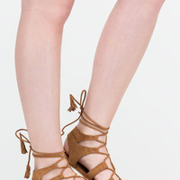 Festival Life Faux Suede Caged Sandals