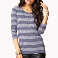 FOREVER 21 Heathered Stripe Top