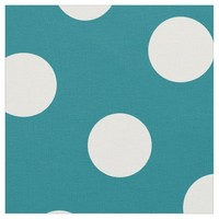 White Polka Dot Pattern on Green Fabric