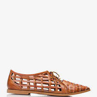Windowpane Cutout Oxfords | FOREVER 21 - 2034724340