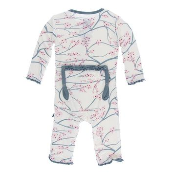 Kickee Pants Tokyo Collection Print Muffin Ruffle Coverall with Snaps