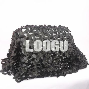 2M*9M Black Military Camo Net Army Exercises Military Camo Net Car-covers Shelter Hunting Camping Military Camo Net Car-covers